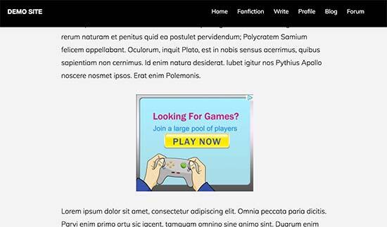 نمایش تبلیغ در سایت