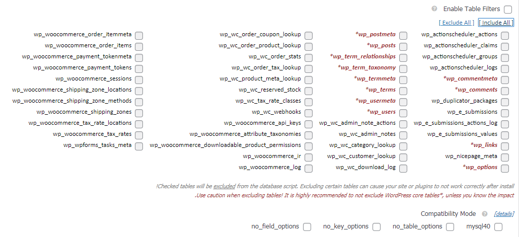 database in aarchive