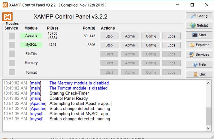 نصب وردپرس روی لوکال هاست XAMPP