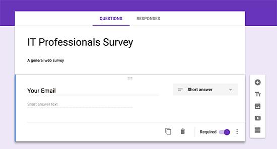 ایجاد یک فرم جدید در گوگل فرم