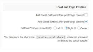 Cresta Social Share Counter