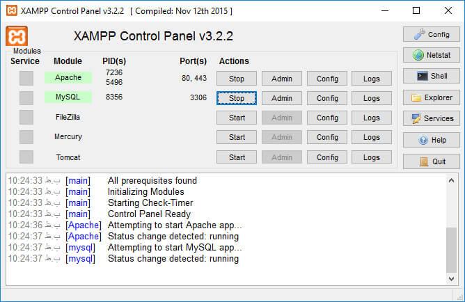 نصب و فعال کردن زمپ xampp